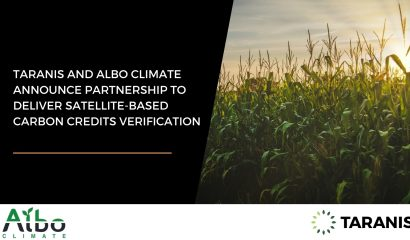 Taranis and Albo Climate announce a partnership to alleviate the bottleneck in verifying carbon sequestration in farmland